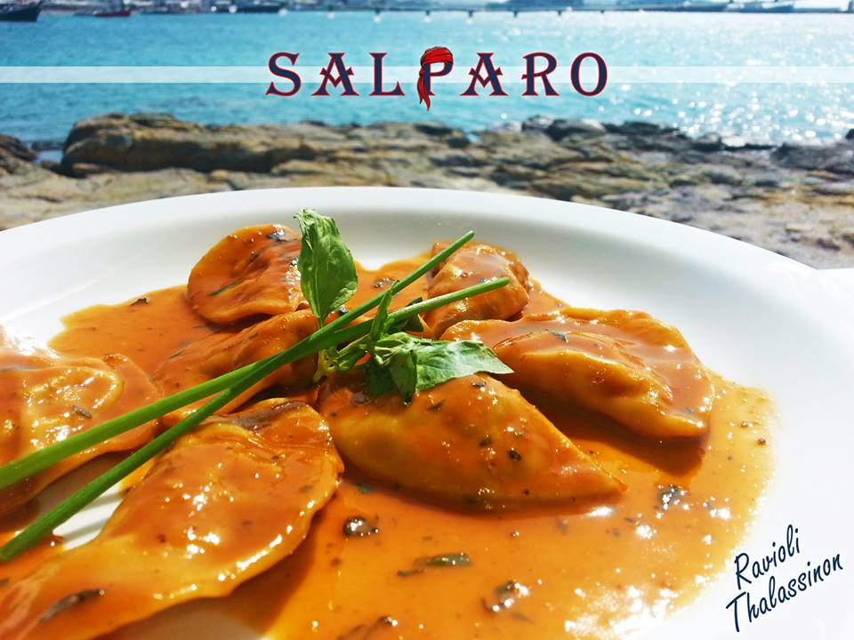 "''Salparo Mykonos"" fish restaurant"