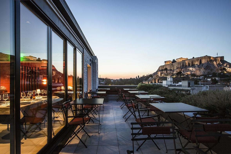 ''Modern Rooftop Dining'' Restaurant.