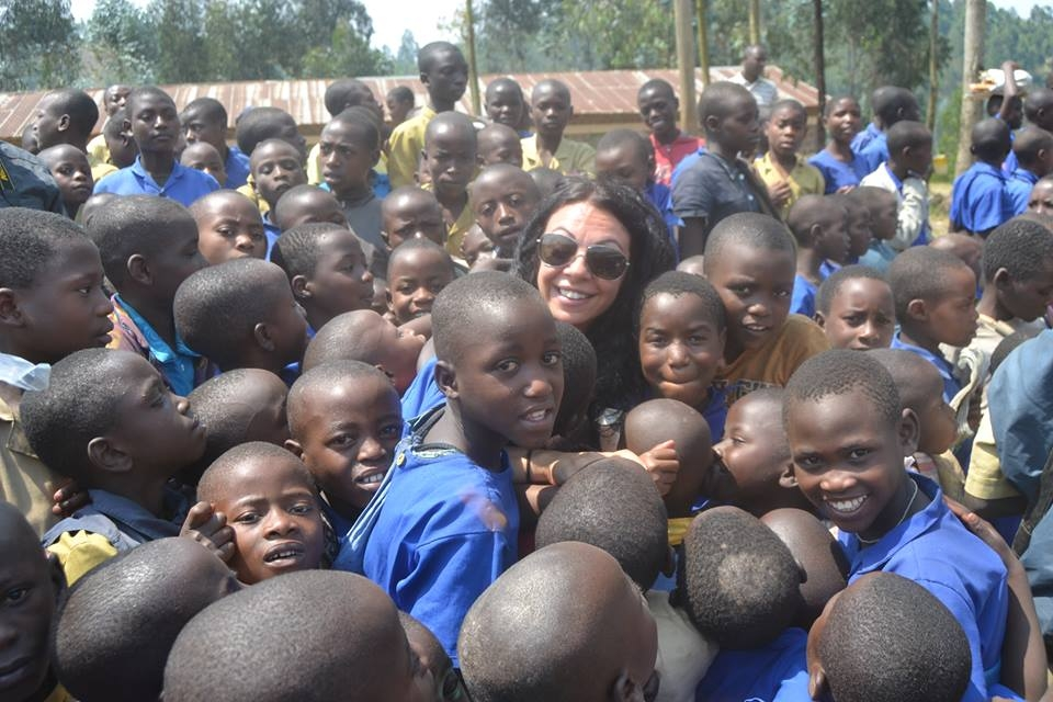 Εlena Karagianni art educator and the ''Send my friend to school'' action  in Rwanda