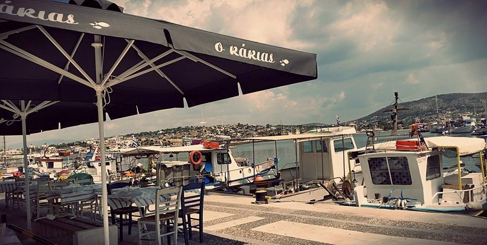 ''Kakias''. Fish Tavern in Salamina
