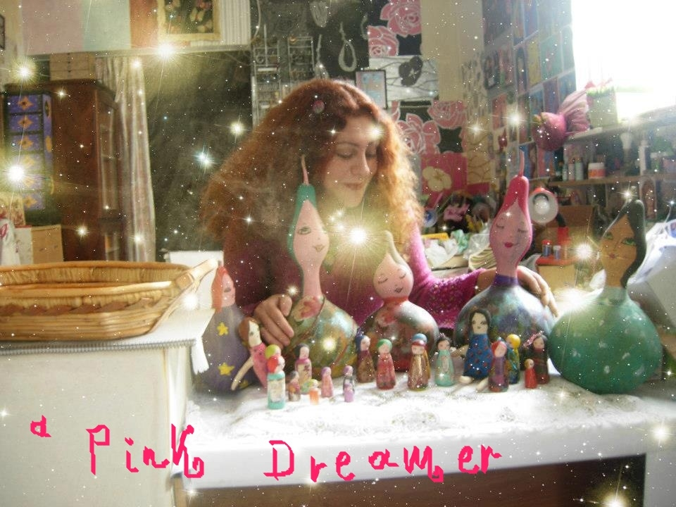 A Pink Dreamer (El Tsamp) mixed media artist
