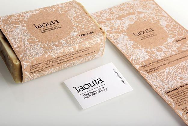 ''Laouta'' natural soaps.