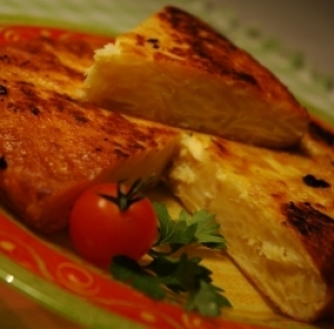 Fourtalia (Traditional omelette from the Aegean island of Andros)