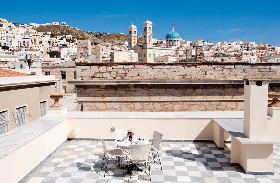 ''Hotel Ploes'' Syros island Cyclades