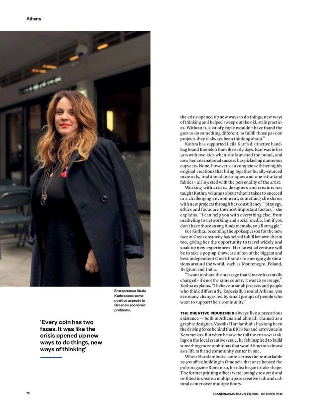 Our interview at the official magazine of Scandinavian Airlines.