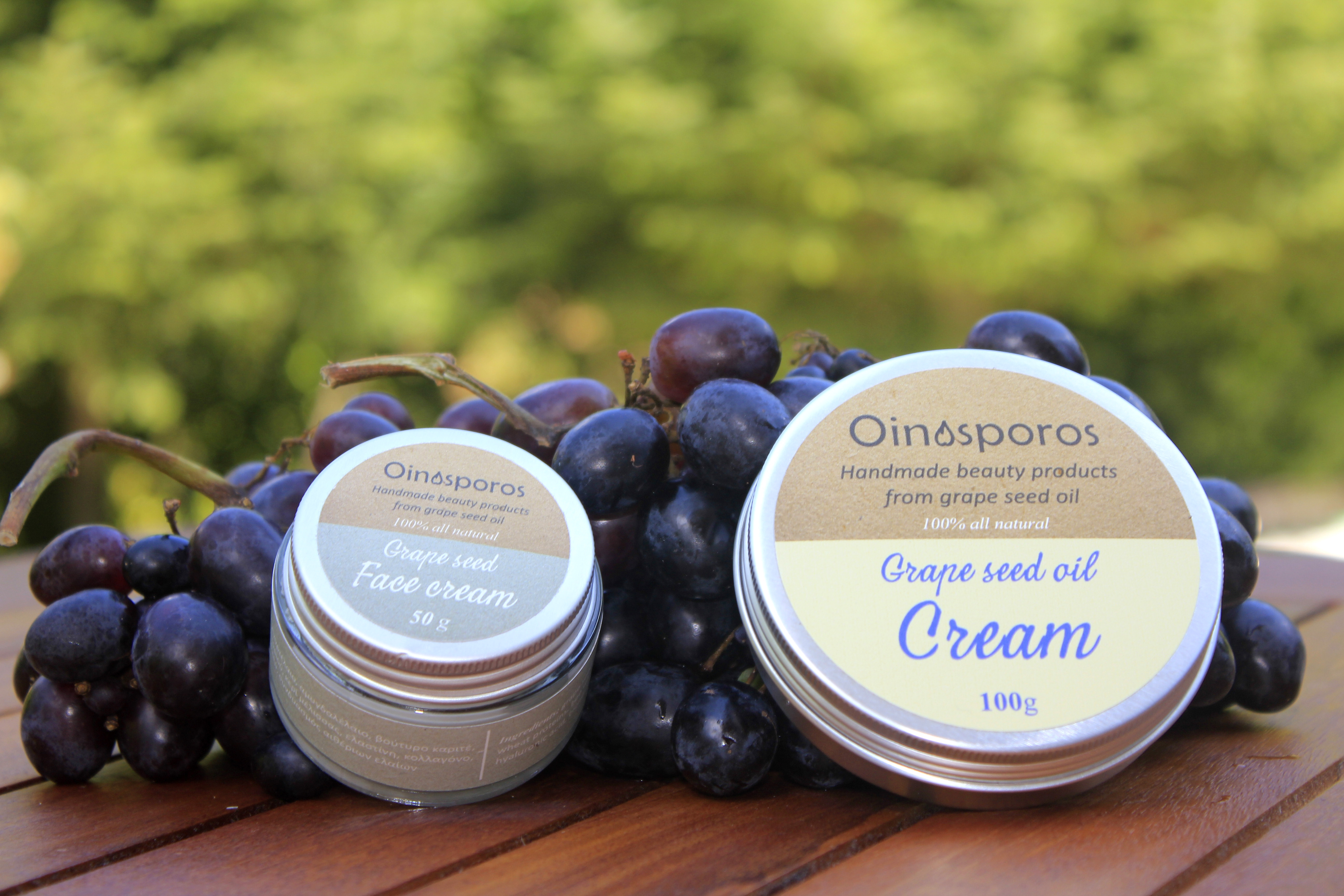 Oinosporos | Handmade beauty products from grape seed oil