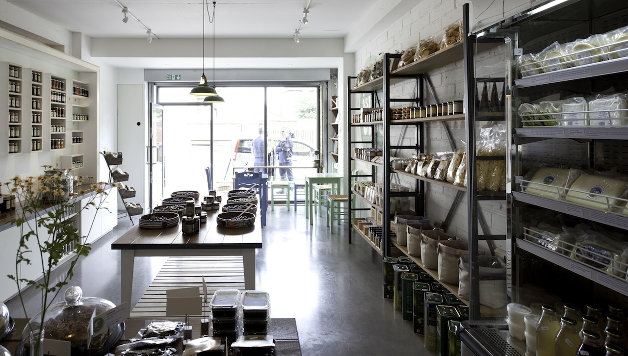 ''Isle of Olive'' Natural Greek Poducts Shop in East London.
