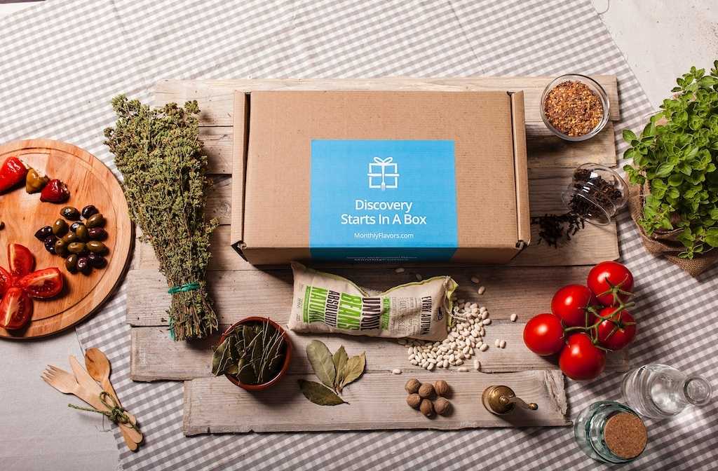 Monthly Flavors. A food subscription box full of ''Greece'.