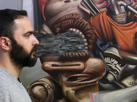 Nikos Moschos artist answers in our questions.